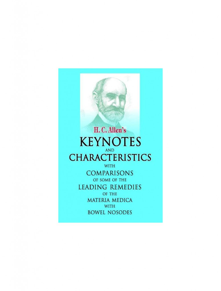 Allens Keynotes and Characteristics with Comparisons By H C ALLEN