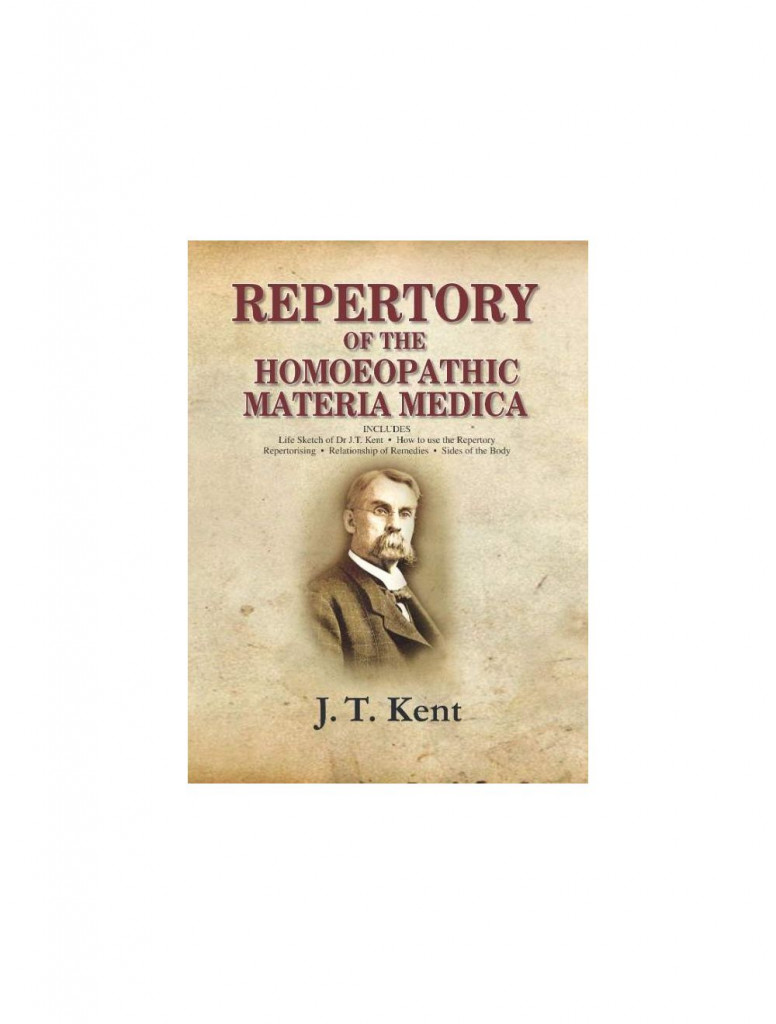 Repertory of the Homoeopathic Materia medica with a word & thumb index-Large Size By JAMES TYLER KENT