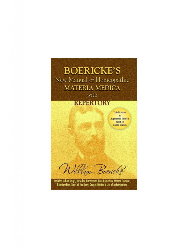 B Jain New Manual of Homoeopathic Materia Medica & Repertory With Relationship of Remedies By WILLIAM BOERICKE