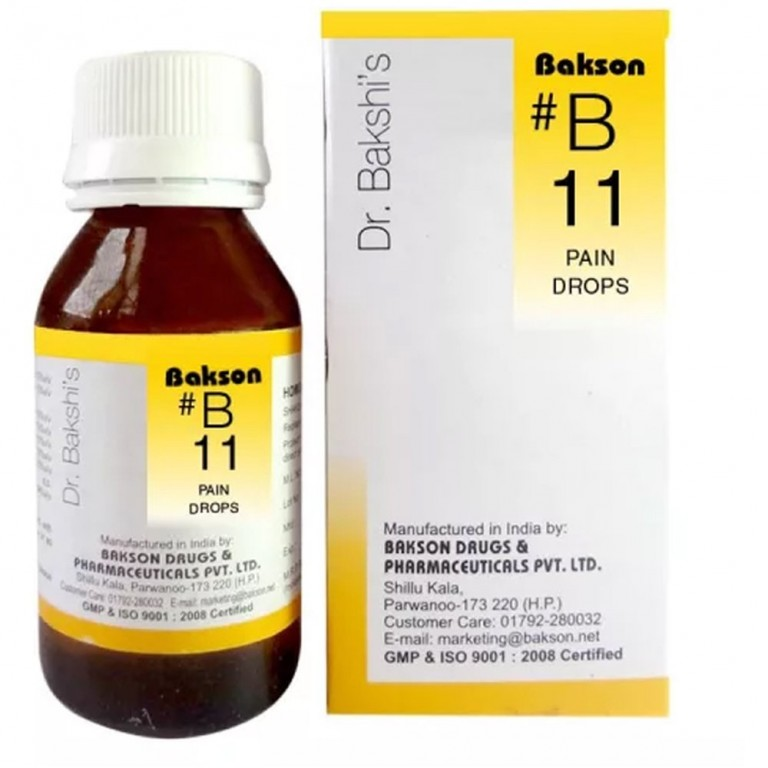 Bakson's B11 Pain Drops (30ml)