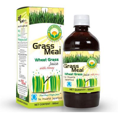 Basic Ayurveda Grass Meal (Wheat Grass) Juice With Honey (500ml)