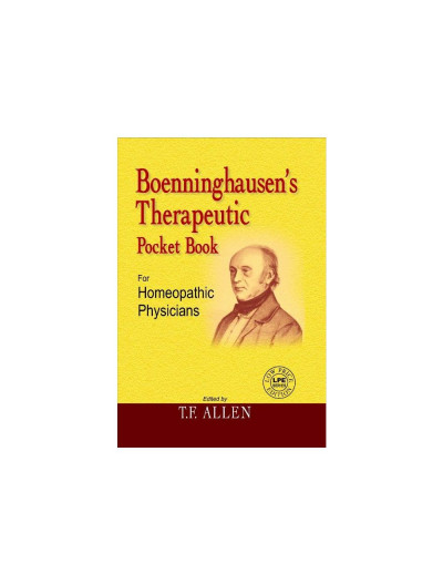 BOENNINGHAUSENS THERAPEUTIC POCKET BOOK By T F ALLEN