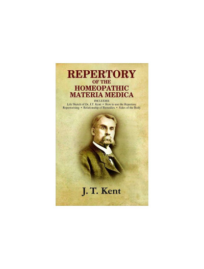 Repertory of the Homoeopathic Materia medica with a word & thumb index-Medium Size By JAMES TYLER KENT