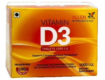 Vitamin D3 (100 Tablet)
