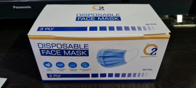 O2 Pro Disposable Face Mask (Pack of 50)