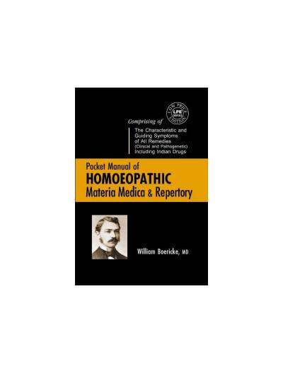 B Jain Pocket Manual of Homoeopathic Materia Medica & Repertory By WILLIAM BOERICKE