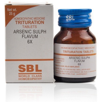 Arsenic Sulphuratum Flavum 6X (25 gm)